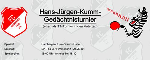 Hans-Jürgen-Kumm-Gedächtnisturnier am 29.05.2019