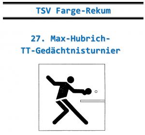 27. Max-Hubrich-TT-Gedächtnisturnier
