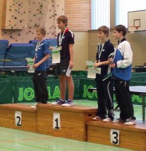 Siegerehrung Landesmeisterschaften (2. v.l.: Heye Koepke)