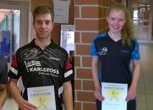 Tobias Steinbrenner (TV Hude) und Klara Bruns (SV Molbergen)