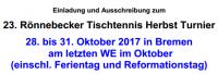 23. Rönnebecker TT Herbst-Turnier